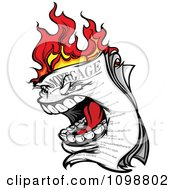 Clipart Screaming Burning Mortgage Royalty Free Vector Illustration
