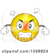 Clipart Yellow Mad Smiley Emoticon Royalty Free Vector Illustration