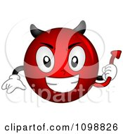 Clipart Devil Smiley Emoticon Royalty Free Vector Illustration