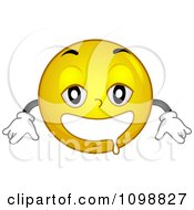 Clipart Yellow Drooling Smiley Emoticon Royalty Free Vector Illustration