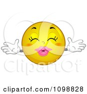 Clipart Yellow Kissing Smiley Emoticon Royalty Free Vector Illustration
