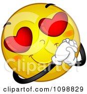 Clipart Yellow Romantic Smiley Emoticon Royalty Free Vector Illustration