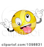 Clipart Yellow Teasing Smiley Emoticon Royalty Free Vector Illustration