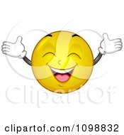 Clipart Yellow Cheerful Smiley Emoticon Royalty Free Vector Illustration