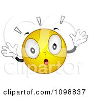 Clipart Yellow Shocked Smiley Emoticon Royalty Free Vector Illustration