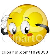 Clipart Yellow Shy Smiley Emoticon Royalty Free Vector Illustration by BNP Design Studio