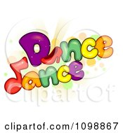 Clipart High Heel Shoe And Music Note With Dance Text Royalty Free Vector Illustration