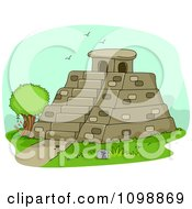 Clipart Historical Mayan Pyramid Royalty Free Vector Illustration