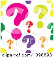 Seamless Colorful Question Mark Background Pattern