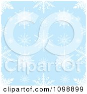 Clipart Seamless Blue And White Snowflake Background Pattern Royalty Free Vector Illustration