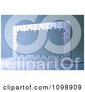 Clipart 3d Silver Puzzle Frame Royalty Free CGI Illustration by Mopic