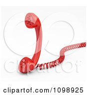 Clipart 3d Red Landline Telephone Receiver With A Coiled Cord Royalty Free CGI Illustration by Mopic