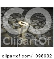 Clipart 3d Gold Screw Standing Out From Other Screws In Wood Royalty Free CGI Illustration by Mopic