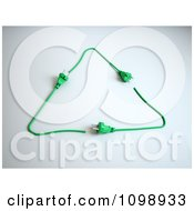 Clipart 3d Green Power Cord Plugs Forming A Recycle Triangle Royalty Free CGI Illustration by Mopic