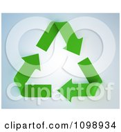 Clipart 3d Green Recycle Arrow Triangle Royalty Free CGI Illustration by Mopic