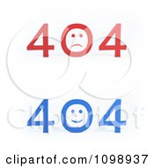 Clipart Blue And Red 404 Error File Not Found Messages Royalty Free CGI Illustration