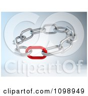 Clipart 3d Weak Or Strong Red Link In A Circle Of Chains Royalty Free CGI Illustration by Mopic #COLLC1098949-0155