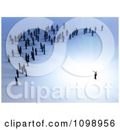 Clipart 3d Tiny People Facing Their Leader Royalty Free CGI Illustration by Mopic