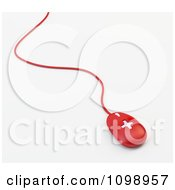 Clipart 3d Red Wired Medical Cross Computer Mouse Royalty Free CGI Illustration