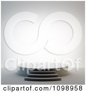 Clipart 3d Empty Round Stage Or Podium With Steps Royalty Free CGI Illustration by Mopic