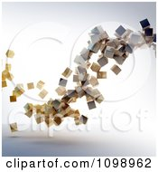 Clipart 3d Floating Wooden Cubes Royalty Free CGI Illustration by Mopic