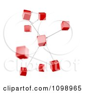 Clipart 3d Connection Diagram Red Cubes Royalty Free CGI Illustration by Mopic