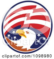 Clipart American Flag Circle And Bald Eagle Head Royalty Free Vector Illustration