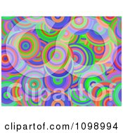 Clipart Seamless Background Of Vibrant Circles Royalty Free Illustration