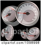 Clipart Multiple Car Speedometers Royalty Free Vector Illustration by dero