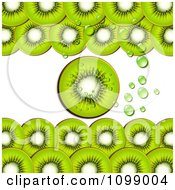 Clipart Background Of Kiwi Slices And Bubbles Royalty Free Vector Illustration by merlinul