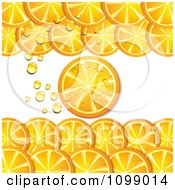 Clipart Background Of Orange Slices And Bubbles Royalty Free Vector Illustration by merlinul