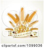 Clipart Guaranteed Banner With Whole Grain Wheat Royalty Free Vector Illustration