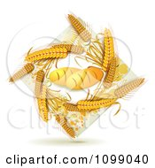 Clipart French Bread Loaves And A Diamond Of Whole Wheat Royalty Free Vector Illustration by merlinul