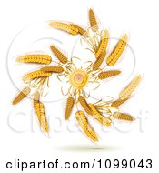 Clipart Spiral Of Whole Grain Wheat Royalty Free Vector Illustration