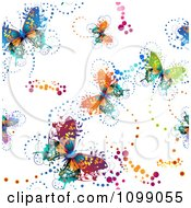 Clipart Seamless Colorful Butterfly Background Pattern Royalty Free Vector Illustration