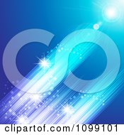 Clipart Blue Streak Of Light Background Royalty Free Vector Illustration