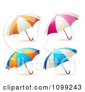 Clipart 3d Colorful Umbrella Parasols Royalty Free Vector Illustration by merlinul