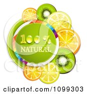 Clipart Natural Circle With Orange Kiwi And Lemon Slices Royalty Free Vector Illustration by merlinul
