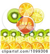 Clipart Orange Natural Circle With Rows Of Orange Kiwi And Lemon Slices Royalty Free Vector Illustration by merlinul