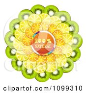 Clipart Orange Natural Circle With Layers Of Orange Kiwi And Lemon Slices Royalty Free Vector Illustration by merlinul