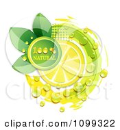 Clipart Juicy Lemon Slice With A Natural Icon Royalty Free Vector Illustration