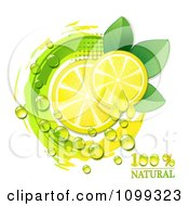 Clipart Juicy Lemon Slices And A Natural Icon Royalty Free Vector Illustration