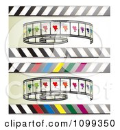 Clipart Banners Of Film Rolls And Stripes Royalty Free Vector Illustration by merlinul