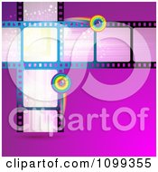 Clipart Film Frames With Rainbow Circles Royalty Free Vector Illustration by merlinul