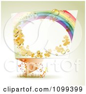 Clipart Dewy Rainbow Clover And Star Origami Banner With Butterflies And Copyspace Royalty Free Vector Illustration by merlinul