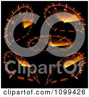 Clipart Orange Speedometers Royalty Free Vector Illustration by dero