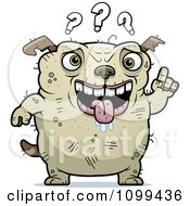 Clipart Dumb Ugly Dog With Questions Royalty Free Vector Illustration by Cory Thoman