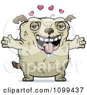 Clipart Loving Ugly Dog Royalty Free Vector Illustration by Cory Thoman