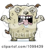 Clipart Mad Ugly Dog Royalty Free Vector Illustration by Cory Thoman