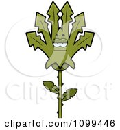 Clipart Bored Marijuana Pot Leaf Mascot Royalty Free Vector Illustration by Cory Thoman